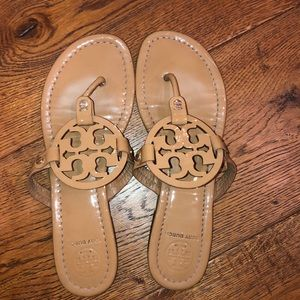Nude Tory Burch sandals.